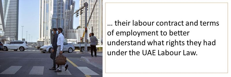 It is important for the worker to carefully review their labour contract.