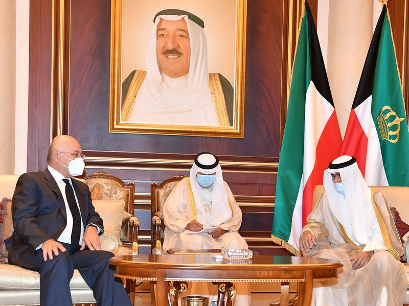 President of Iraq, Barham Salih, and his delegation, also traveled to Kuwait to offer his condolences to Sheikh Nawaf.