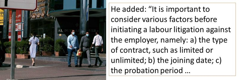 The factors that are important are 1. type of contract, 2. the joining date, 3. the probation period, 4. the notice period