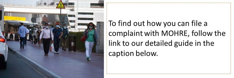 To find out how you can file a complaint with MOHRE, follow the link to our detailed guide in the caption below.