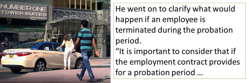 What happens if you are terminated during the probation period?