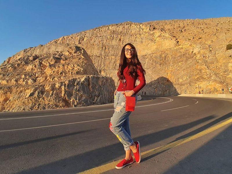 Zarnish Khan in UAE