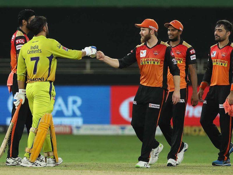 20201002 hennai Super Kings and the Sunrisers Hyderabad
