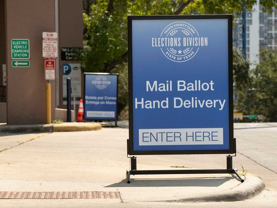 Mail-in ballot Texas