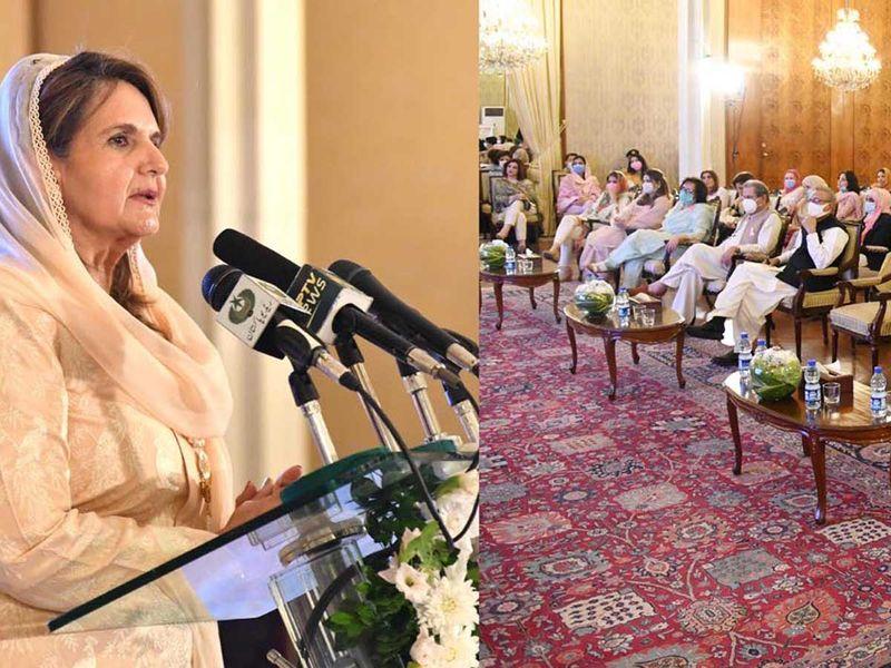 Pakistan's First Lady Samina Arif Alvi