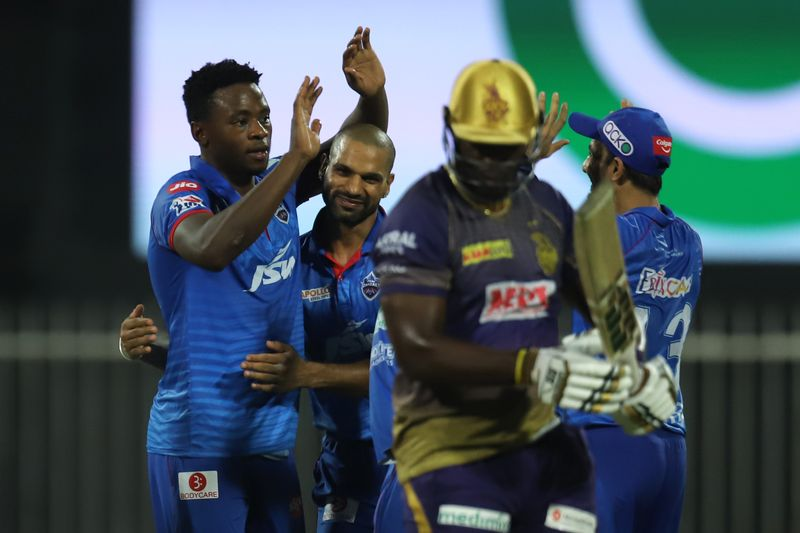 Kagiso Rabada (left) of Delhi Capitals