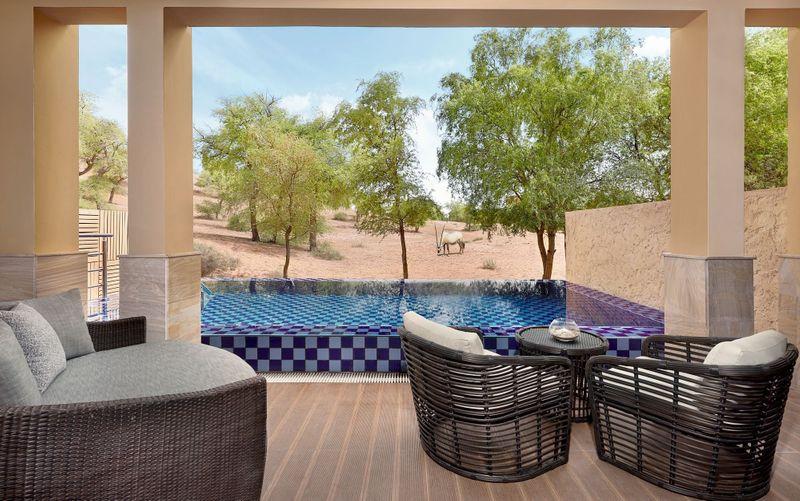 A view from The Ritz-Carlton, Ras Al Khaimah, Al Wadi Desert.