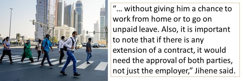 Also, it is important to note that if there is any extension of a contract, it would need the approval of both parties, not just the employer