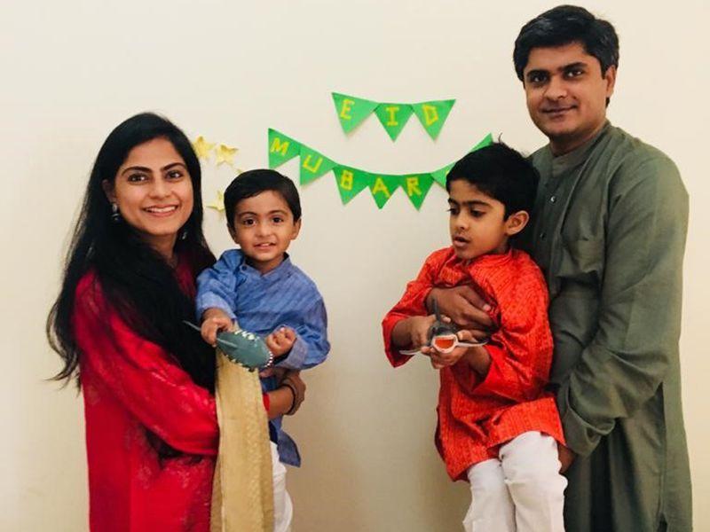 Fabiha Khalid and family