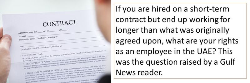 Gulf News reader asks: What are my rights in case of a short-term contract?