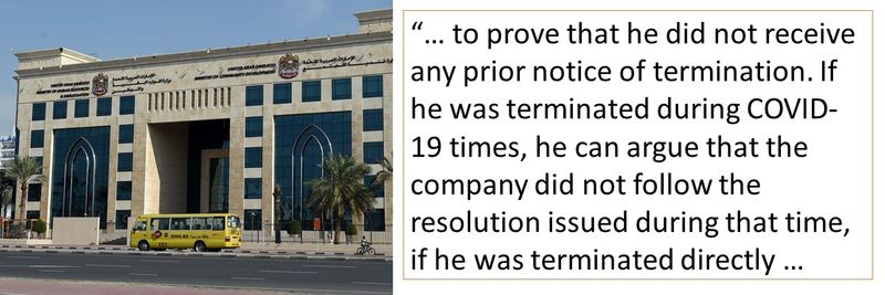 If he was terminated during COVID-19 times, he can argue that the company did not follow the resolution issued during that time.