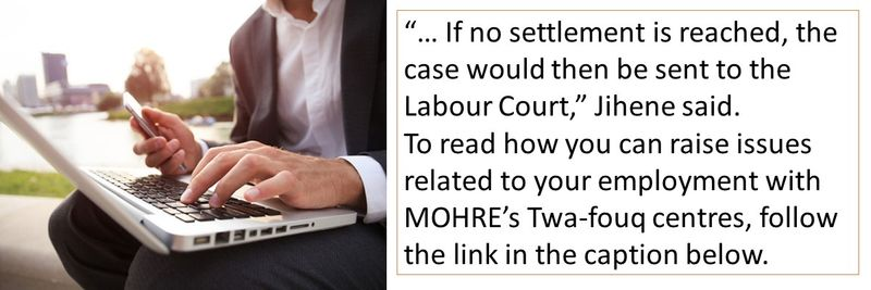 If no settlement is reached, the case would then be sent to the Labour Court.