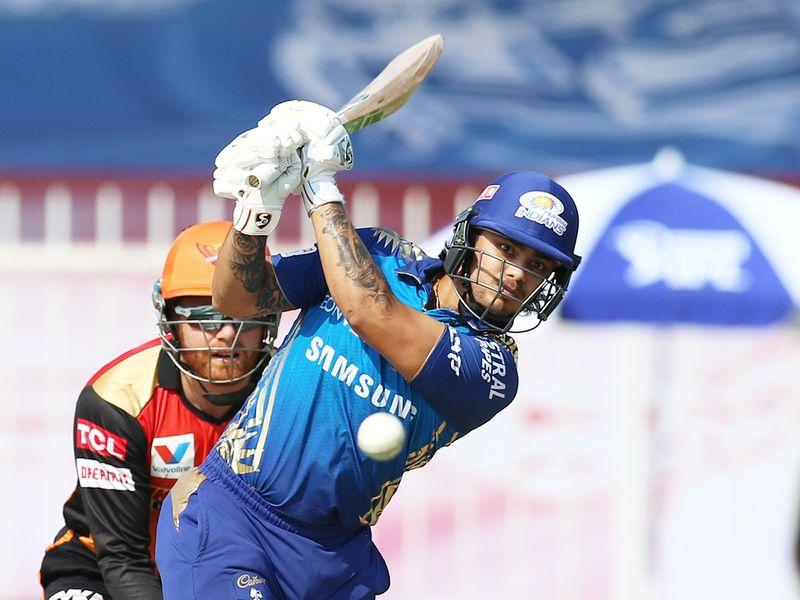 Ishan Kishan of Mumbai Indians plays a shot.