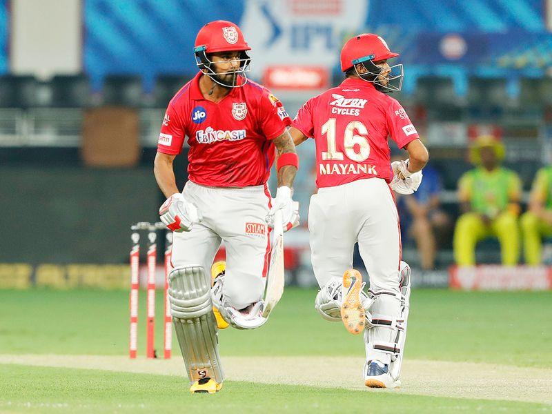 Kings XI Punjab batsmen KL Rahul and Mayank Agarwal