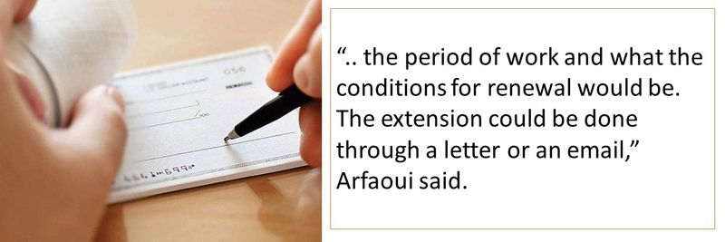 The contract should clearly state the duration of work.
