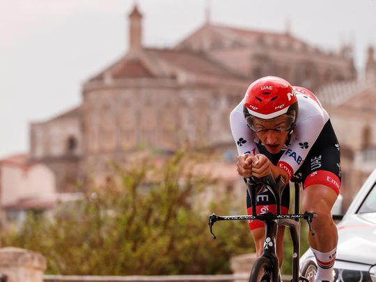 UAE Team Emirates rider Mikkel Berg