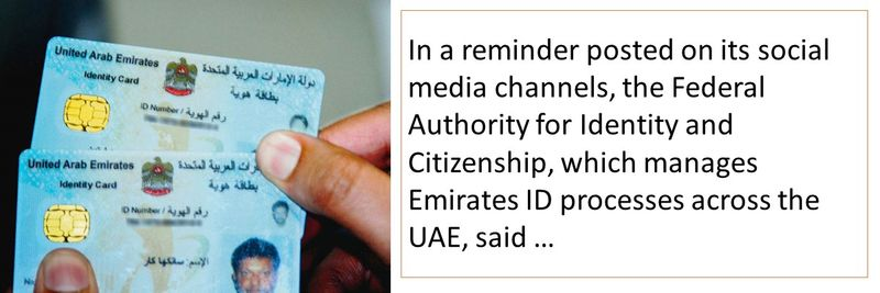 Federal Authority for Identity and Citizenship (ICA) posted a reminder on their social media channels.