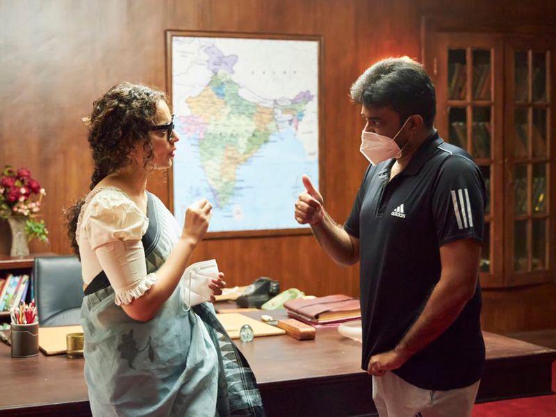 Kangana Ranaut on Thalaivi set