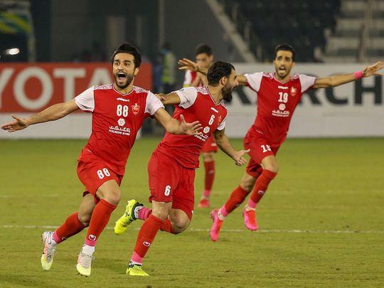 Persepolis celebrate their Champions League win over Al Nassr