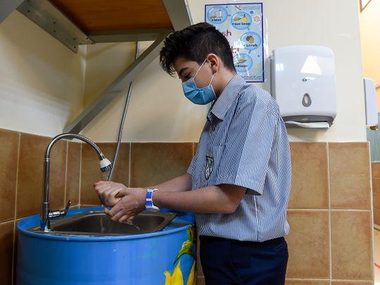 Sharjah school makes hand washing fun amid COVID-19