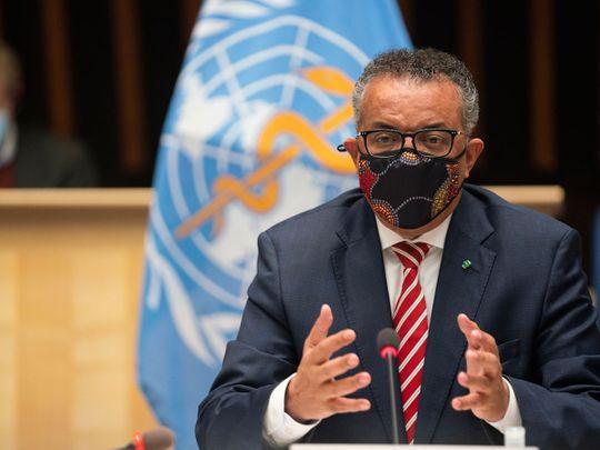 WHO Director General Tedros Adhanom Ghebreyesus