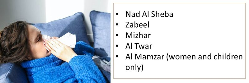- Nad Al Sheba - Zabeel - Mizhar - Al Twar - Al Mamzar (women and children only)