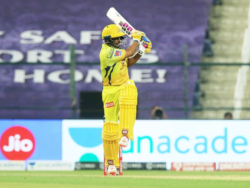 Ambati Rayudu of Chennai Superkings plays a shot.