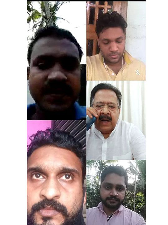 Family members of crash victims