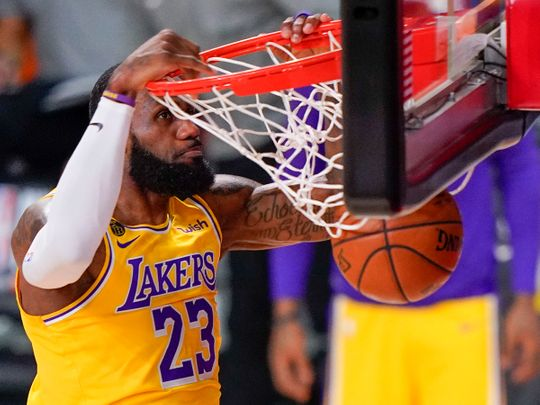 Los Angeles Lakers forward LeBron James