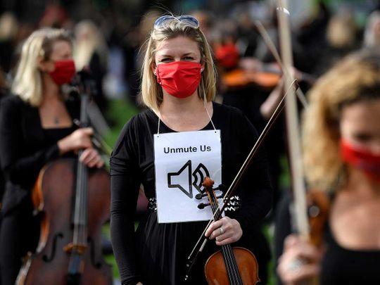 UK parliament musicians protest london