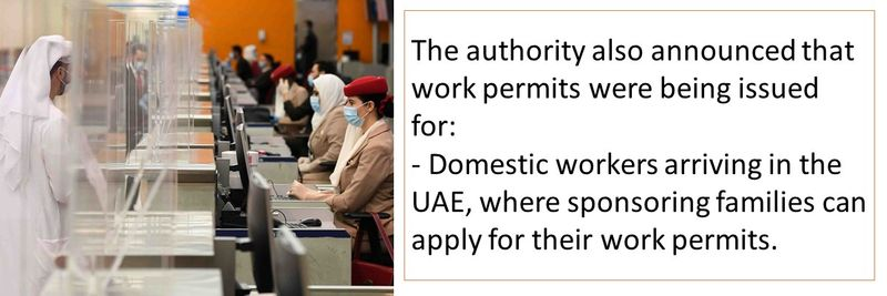 Work permits are being issued for the following categories.