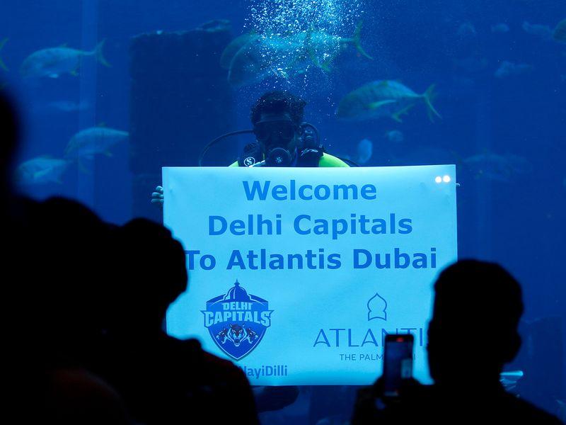 Delhi Capitals relax at Atlantis Palm in Dubai.