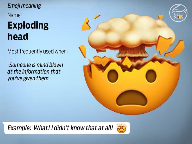 Exploding head emoji