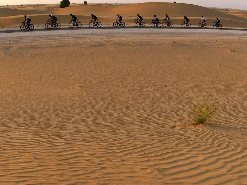 Lance Armstrong in Al Qudra