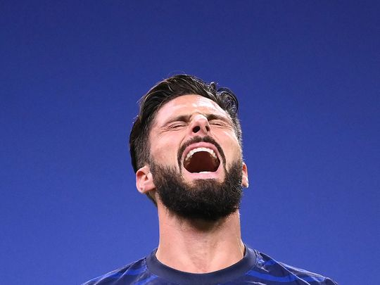 Olivier Giroud scored for France on his 100th appearance