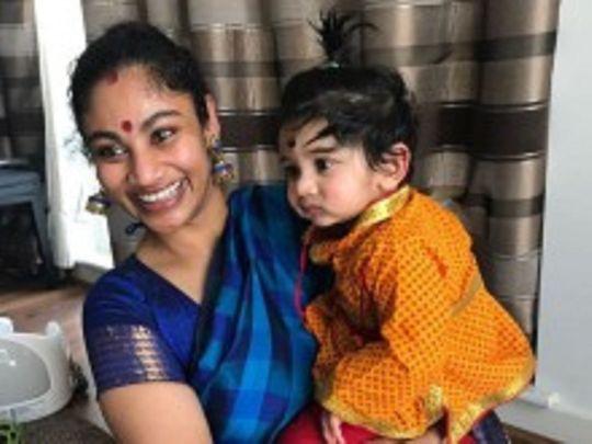 Poorna Sivaraj and her son Kailash Kuha Raj