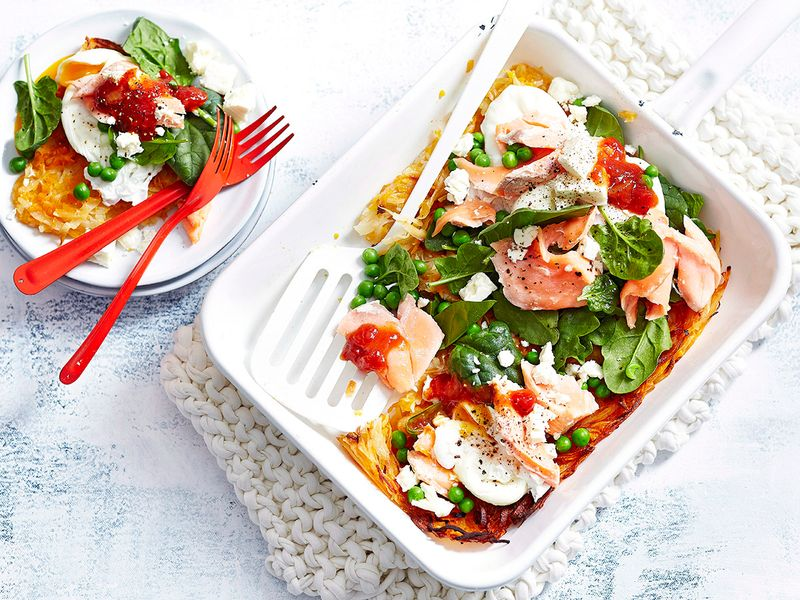 Pumpkin & Potato Rosti With Salmon & Soft Eggs