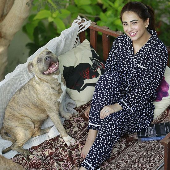 Ushna Shah with her pet