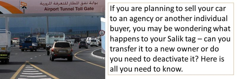 What to do with your Salik tag when you sell your car