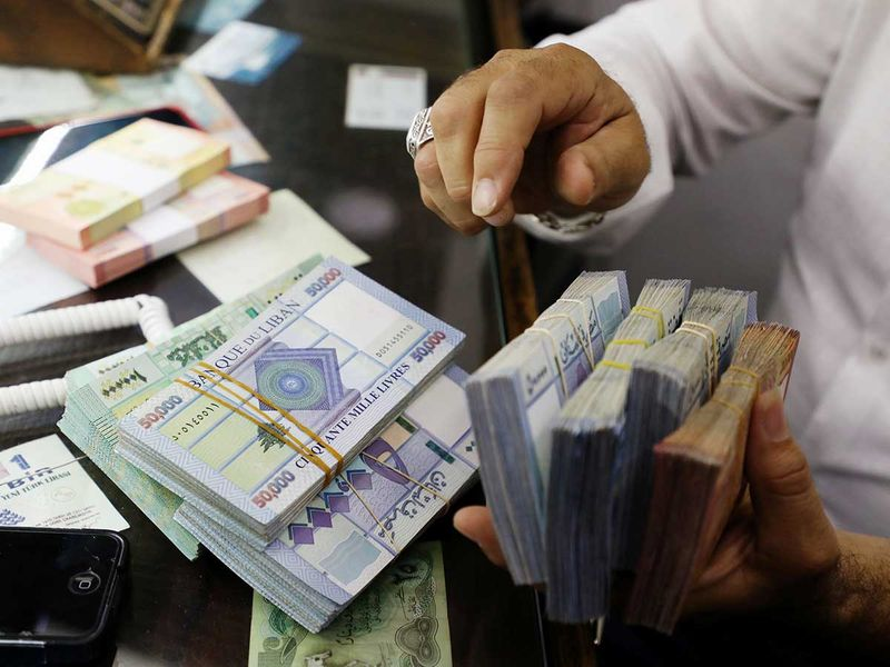 STOCK LEBANON CURRENCY Lebanon pounds currency