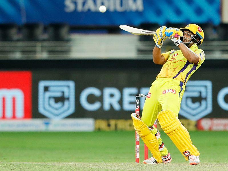 Ambati Rayudu of Chennai Superkings bats during the match.