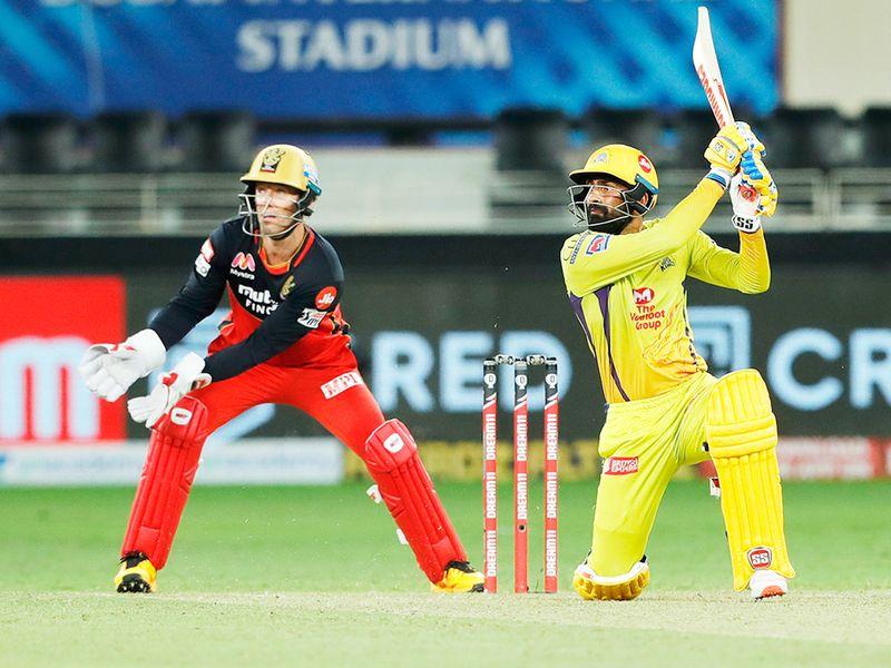Jagadeesan Narayan of Chennai Superkings plays a shot.