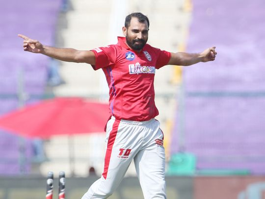 Mohammad Shami of Kings XI Punjab