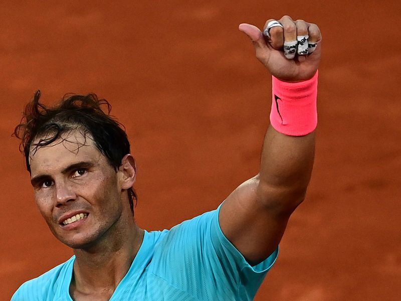 Rafael Nadal is hunting his 13th French open title.
