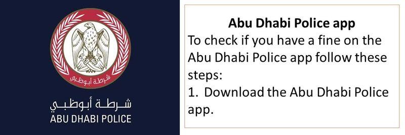 Abu Dhabi Police app.