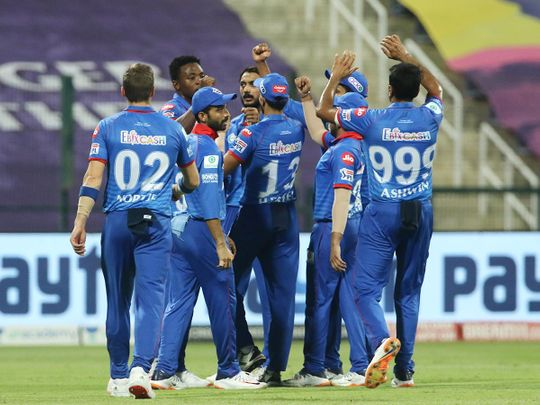 Delhi Capitals players
