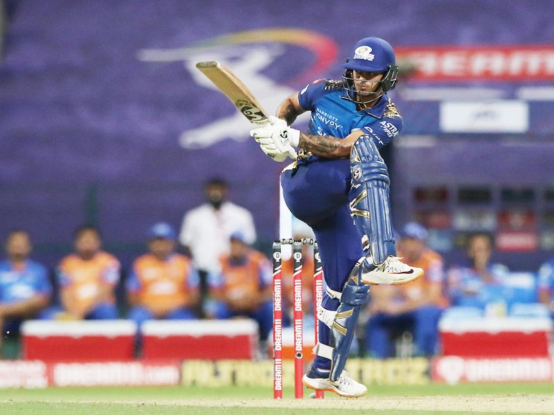 Ishan Kishan of Mumbai Indians plays a shot.