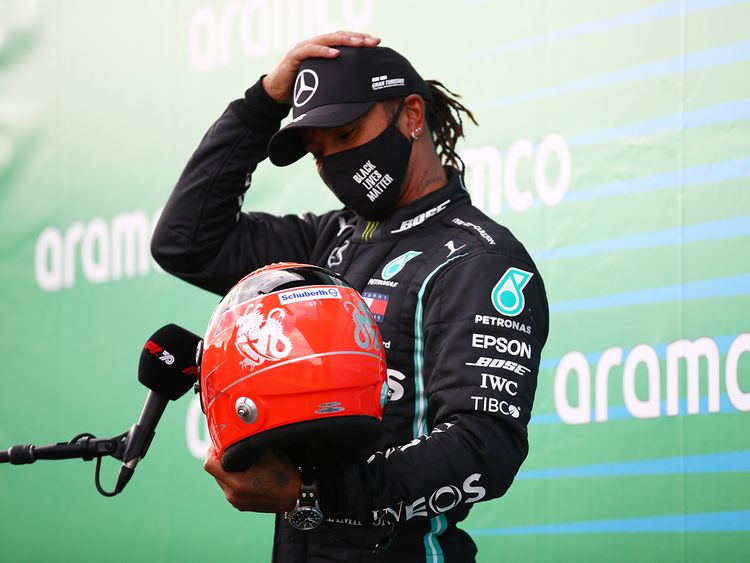 Formula One Towering Lewis Hamilton Wins Eifel Gp In Germany Equals Michael Schumacher S All Time Record Motorsport Gulf News