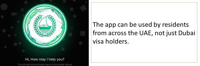 The app can be used by residents from across the UAE, not just Dubai visa holders.
