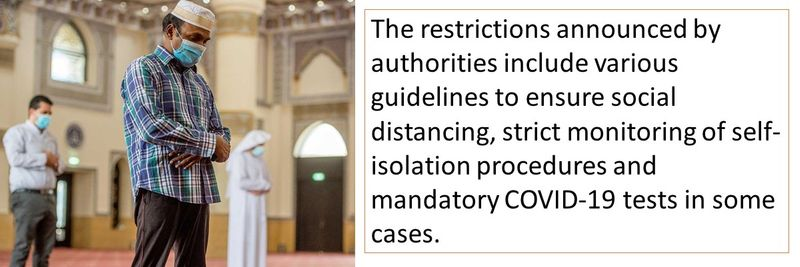 The restrictions announced by authorities include various guidelines to ensure social distancing, strict monitoring of self-isolation procedures and mandatory COVID-19 tests in some cases.